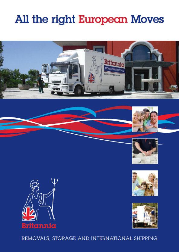 European removals brochure courtesy of Britannia Movers International