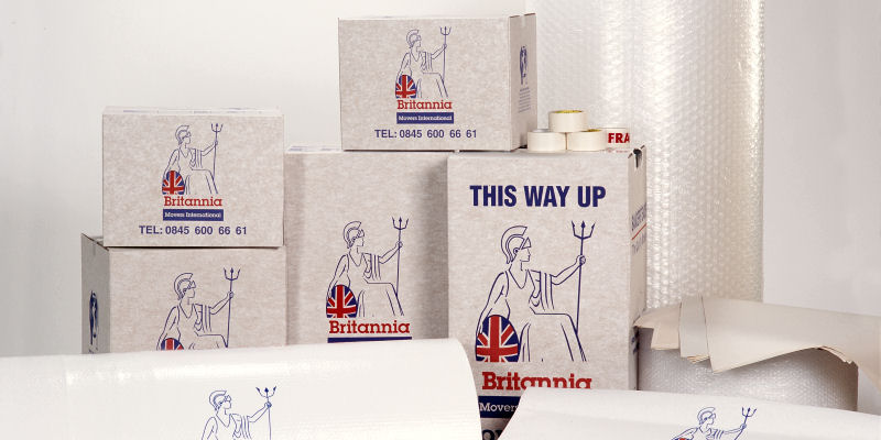 Packing cartons for Removals