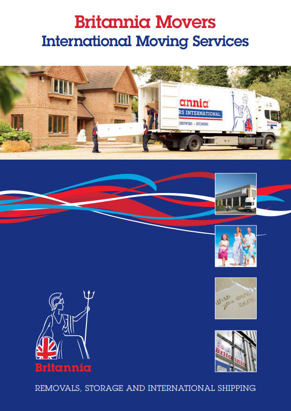 International removals brochure courtesy of Britannia Movers International