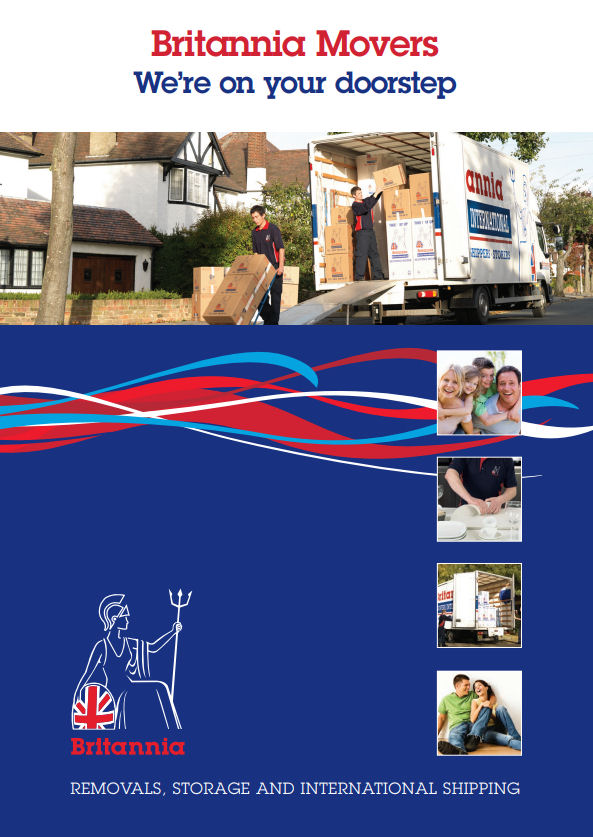 Local removals brochure courtesy of Britannia Movers International