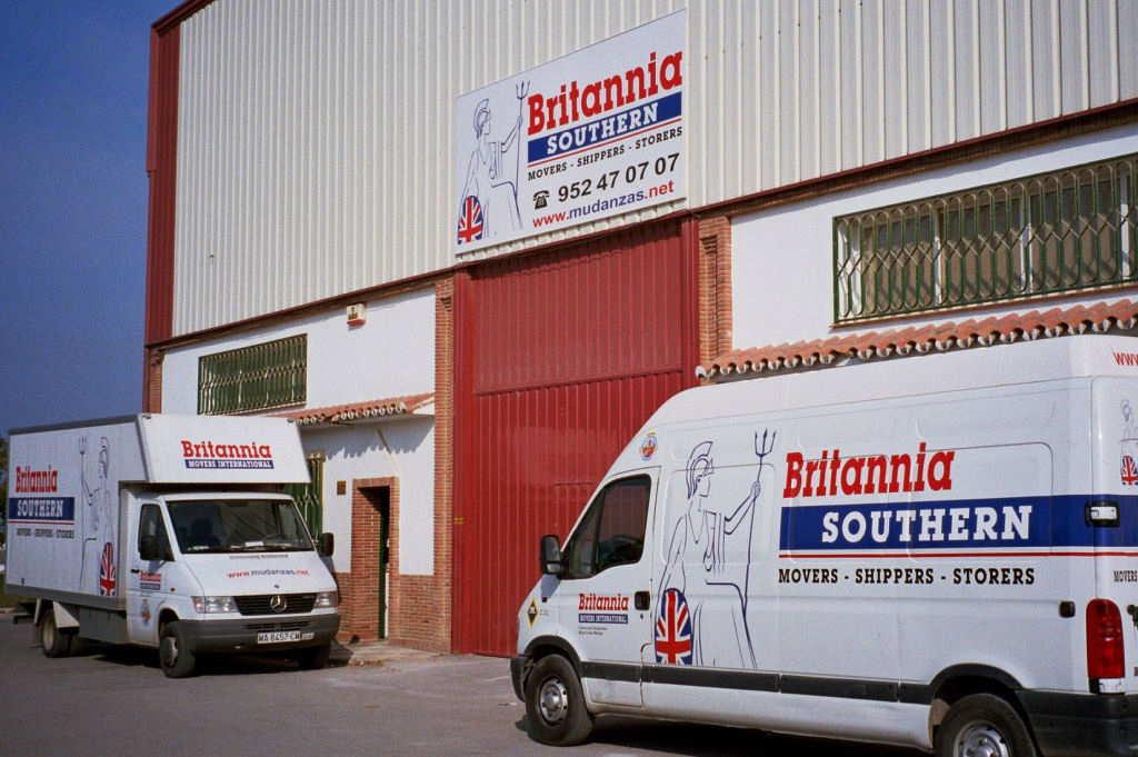 Britannia Removals vans