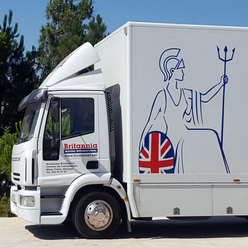 Iveco Eurocargo used for Spain to UK removals